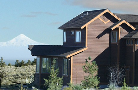brasada ranch custom home with view of mt. jefferson