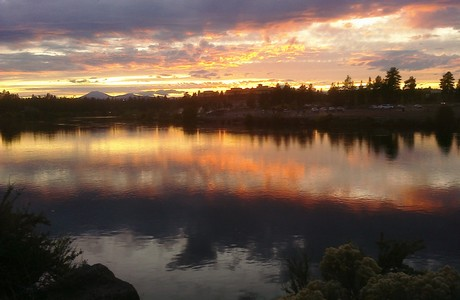 Sunset over the Deschutes