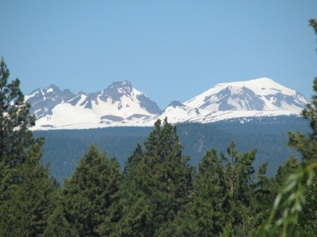 Cascade view from 19379 Blue Lake Loop in Bend