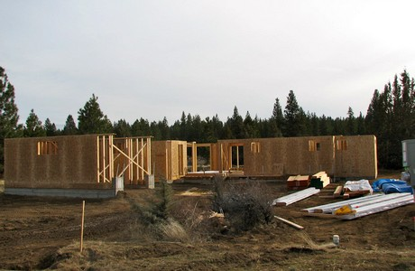New home under construction at Tetherow