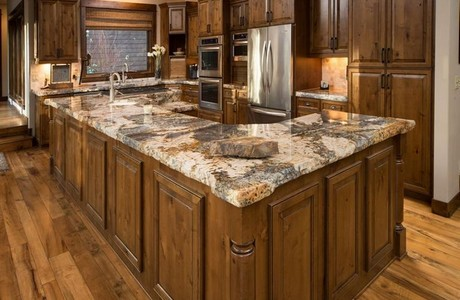 High End Kitchens White Granite Countertops With Amazing
