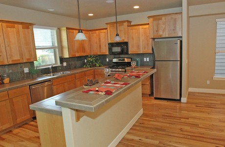 HIckory floors and alder cabinets; listed by broker Sandy Kohlmoos