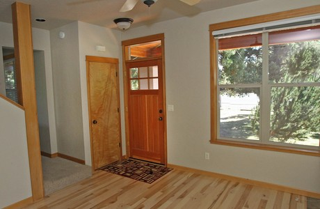 New maple flooring in the cottage on Archie Briggs Road in Bend