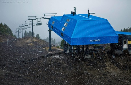 September 25 . . . first snow of the season at Mt. Bachelor in Bend
