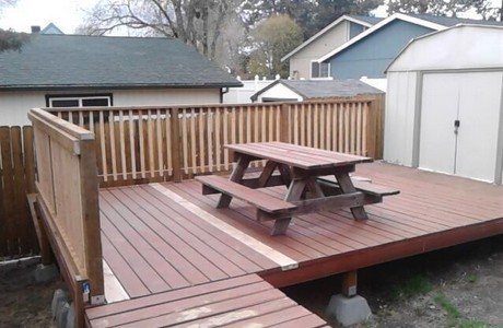 Not a paver deck; perfect for entertaining in midtown Bend Oregon